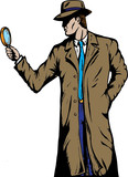 Old style detective or private investigator. poster