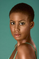 Beauty portrait of young African American woman