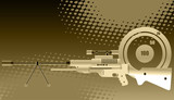 Sniper rifle with scope poster