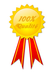 "Badge ""100% Qualité"""