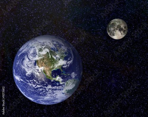 Erde und Mond - 10731612