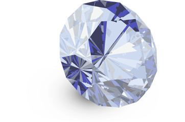 A close up of a diamond over a white background Vector