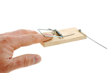 Finger in a mousetrap