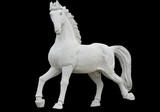 Classic era greek ancient replica statue of a horse poster
