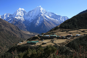 the village in the Himalayas