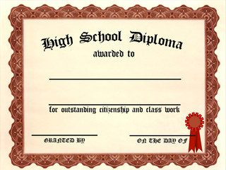 Customizable High School Diploma