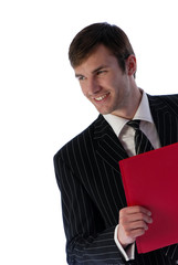 businessman and folder