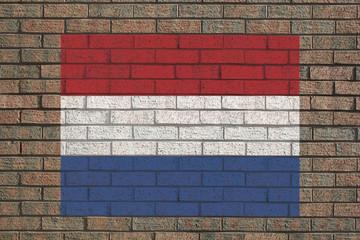 Dutch flag on wall