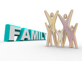 Family - Figures Beside the Word