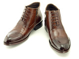 Brown leathers shoes