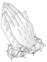 Betende Hände - Tattoovorlage