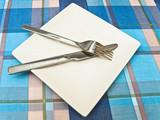 dish at tablecloth poster
