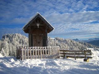 Old chapel on the mountain in Saint Johann