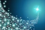 Fototapety Comet across a blue sky