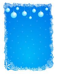 Winter frame - vector