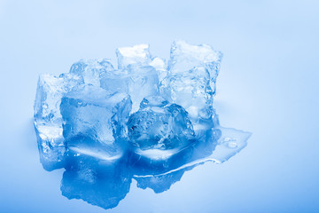 isolated toned ice cubes