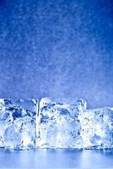 fresh blue ice cubes background