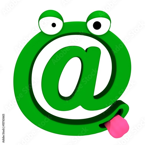 green living dog of the e-mail