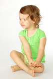 A little girl was disordered. poster
