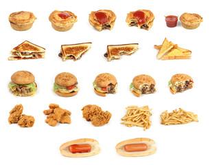 mixed junk food