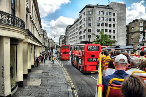 Papiers peints Londres bus rouge London Stadtrundfahrt