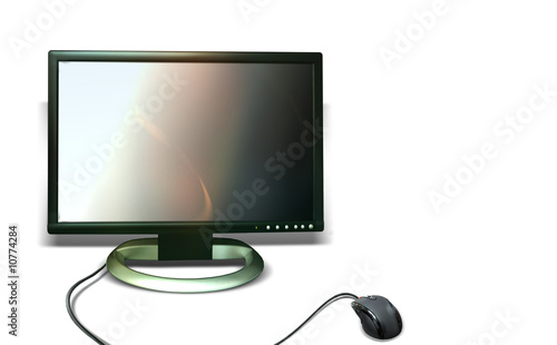 Monitor and mouse