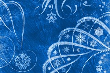 Christmas blue Line