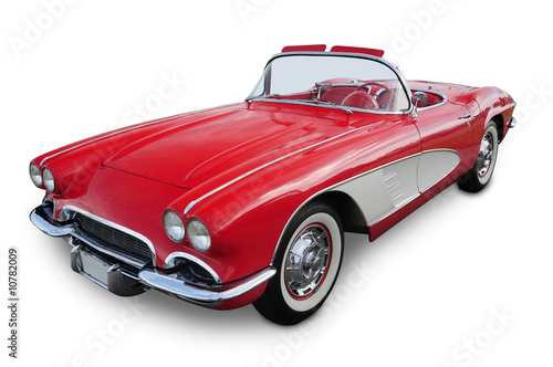 Tuinposter Vintage cars Classic Convertible Sports Car