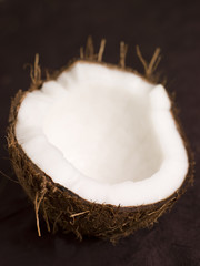 Halved Fresh Coconut