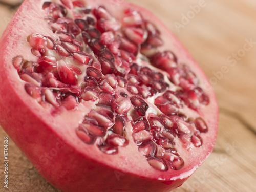 Halved Fresh Pomegranate