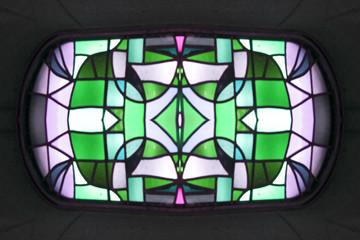 vetrata mosaico astratto
