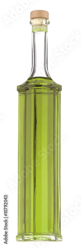 green oil in bottle