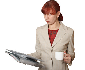 The business woman with documents
