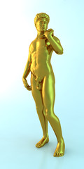 Golden male statue