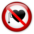 """No pacemakers"" button"
