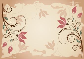 Floral vector background.