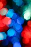 defocused color blurs poster