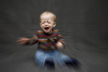 Radial Zoom of Baby Boy Crying