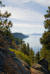 Lake Tahoe on overcast day