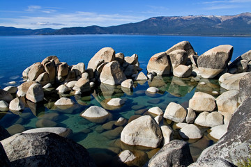Rocks in Lake Tahoe