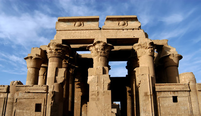 Ancient temple of pharaoh Sobek in Kom Ombo