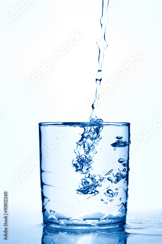 water isolated over white
