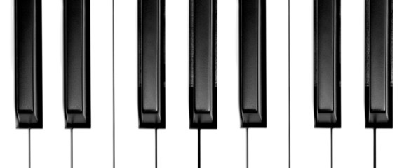 keys of a grand piano