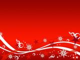 Cornice natalizia rossa e bianca poster