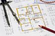 Bauplan eines Hauses