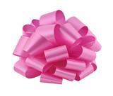 Big pink ribbon bow cutout poster