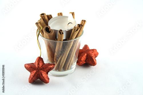 weihnachtliches teelicht mit weihnachtsdeko von sandra. Black Bedroom Furniture Sets. Home Design Ideas
