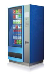 Distributeur automatique de boissons froides (reflet)