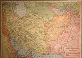 map,antique,vintage,middle,east,persia poster