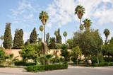 Garden in Marrakech, Morocco poster